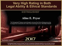 2017 Most Honored Distinguished Attorney